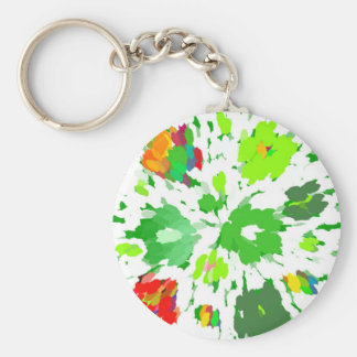 Watercolor Pop Art Floral Keychain