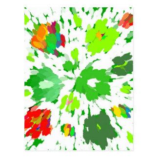 Watercolor Pop Art Floral Postcard