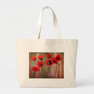 Watercolor Poppies Tote Bag