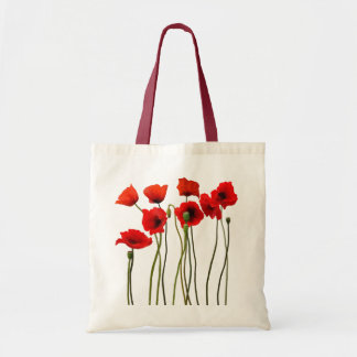 Watercolor Poppies Tote Bags