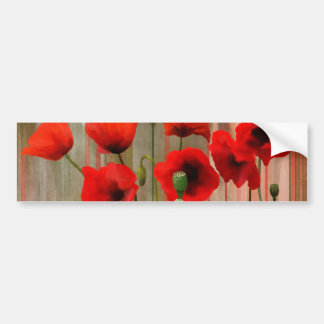Watercolor Poppies Bumper Sticker