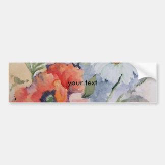Watercolor poppies bumper sticker