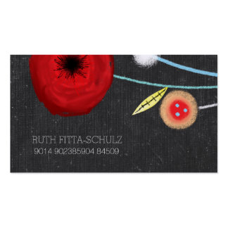 Watercolor Poppies Business Card