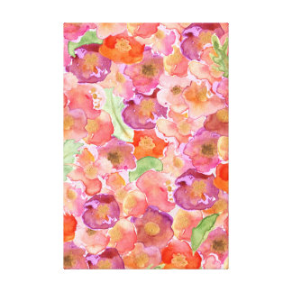 Watercolor Poppies Canvas Print
