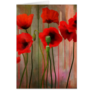 Watercolor Poppies Card