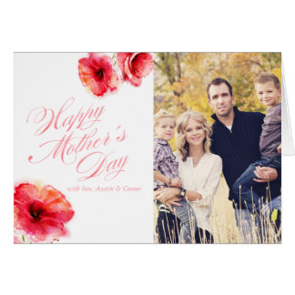 Watercolor Poppies Happy Mother's Day Card