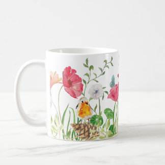 Watercolor Poppies in the Meadow Mug