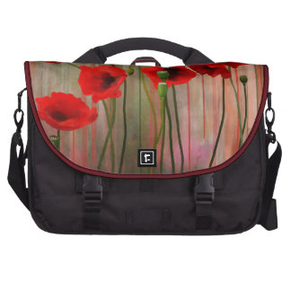 Watercolor Poppies Laptop Computer Bag
