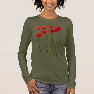 Watercolor Poppies Long Sleeve T-Shirt
