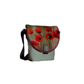 Watercolor Poppies Messenger Bag