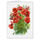 Watercolor Poppies Note Card