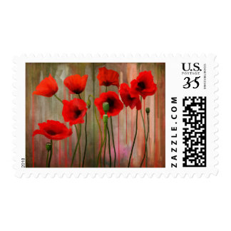 Watercolor Poppies Postage