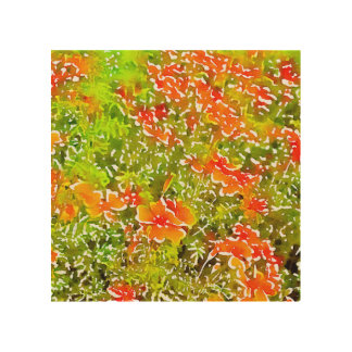Watercolor Poppies Wood Wall Decor