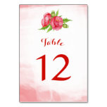Watercolor Poppy Flower Table Number Cards