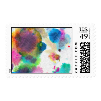 Watercolor Postage Stamp