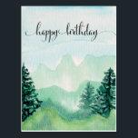 "Watercolor Postcard for Him, Watercolor Mountains<br><div class=""desc"">Watercolor Postcard for Him,  Watercolor Mountains.</div>"
