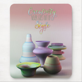 Watercolor Pottery Creativity Never Goes Out Style Mouse Pad