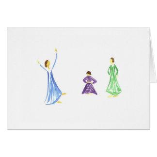Watercolor Praise Girls Card
