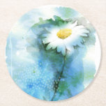 "Watercolor Pretty Daisy - All Options Round Paper Coaster<br><div class=""desc"">Watercolor Pretty Daisy - All Options - PAPER COASTER - Coordinating Paper Products are available in our Store.</div>"