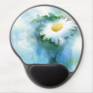 Watercolor Pretty Daisy Gel Mouse Pad
