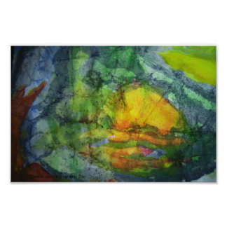 """Watercolor print of Painting called """"Cavern"""" Photo Print"""