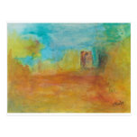 Watercolor prints on popular products postcard