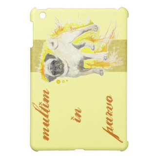 Watercolor Pug Art iPhone iPad Case