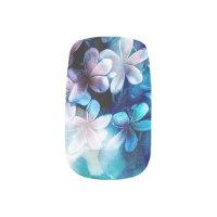 Watercolor Pulmeria Blues Minx Nail Art
