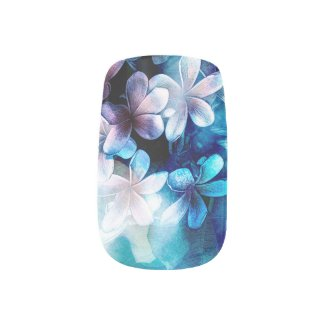 Watercolor Pulmeria Blues Minx® Nail Wraps