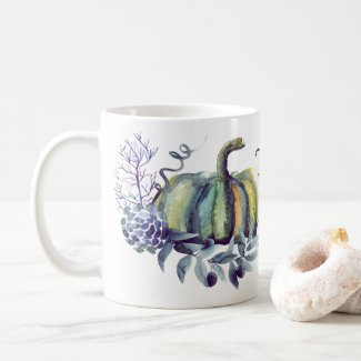 Watercolor Pumpkin Coffee Mug