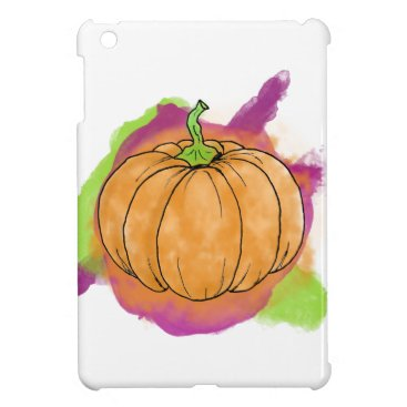 Halloween Themed Watercolor Pumpkin iPad Mini Cases