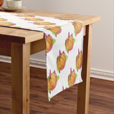 Watercolor Pumpkin Short Table Runner