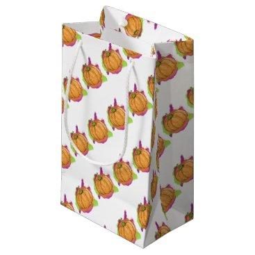 Watercolor Pumpkin Small Gift Bag