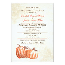 Watercolor pumpkins Fall rehearsal dinner invite