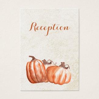 watercolor pumpkins fall wedding reception invite