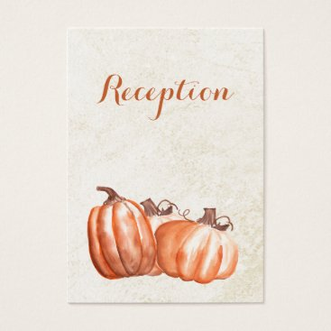 watercolor pumpkins fall wedding reception invite