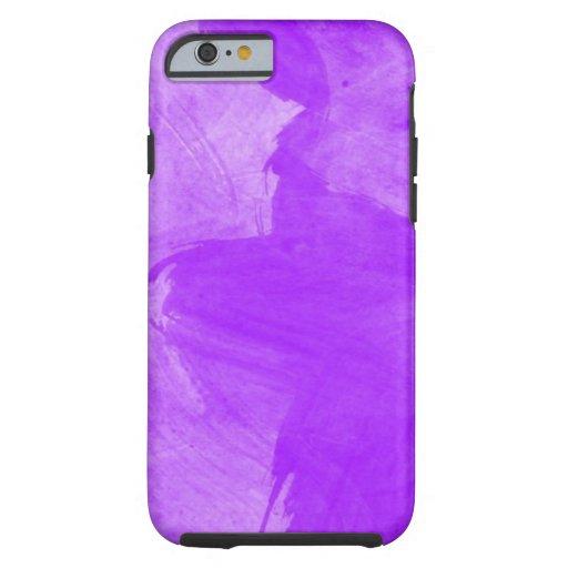 Watercolor Purple Brush Strokes Tough iPhone 6 Case