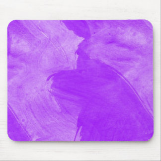 Watercolor Purple Brush Strokes Mouse Pad
