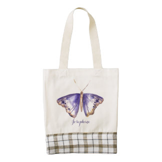 Watercolor Purple Butterfly tote bag
