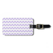 watercolor purple chevron zigzag pattern bag tag
