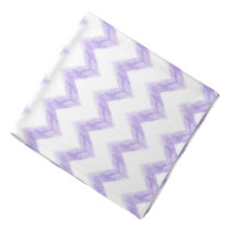 watercolor purple chevron zigzag pattern bandana