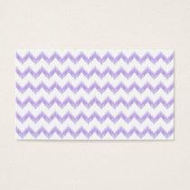 watercolor purple chevron zigzag pattern business card