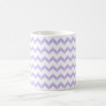watercolor purple chevron zigzag pattern coffee mug