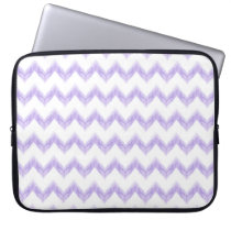 watercolor purple chevron zigzag pattern computer sleeve