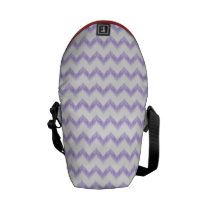watercolor purple chevron zigzag pattern courier bag