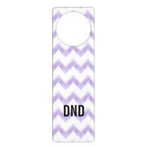 watercolor purple chevron zigzag pattern door hanger