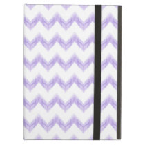 watercolor purple chevron zigzag pattern iPad air case