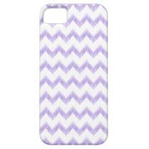 watercolor purple chevron zigzag pattern iPhone SE/5/5s case