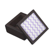 watercolor purple chevron zigzag pattern jewelry box