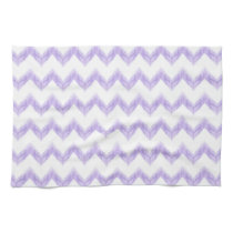 watercolor purple chevron zigzag pattern kitchen towel